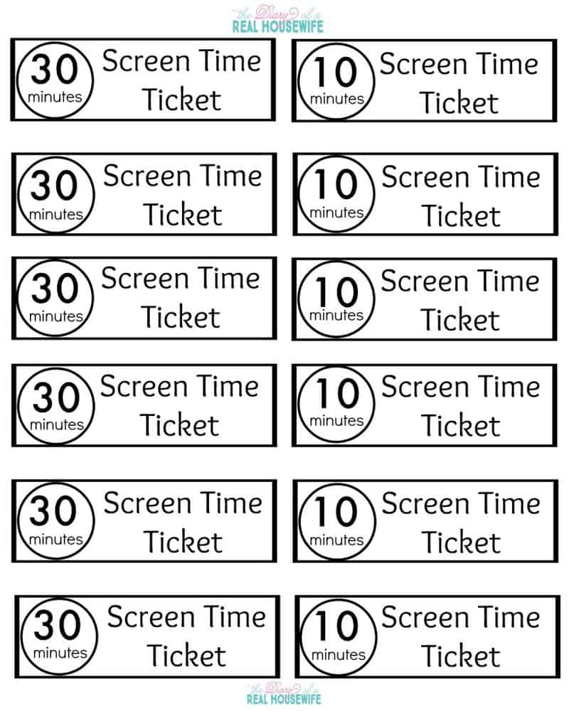 Earning Screen Time with the Point System - The Diary of a ...