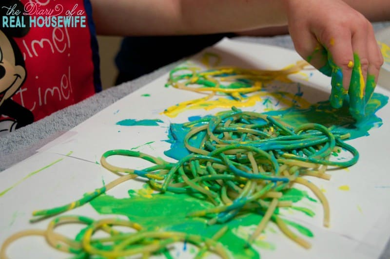 Spaghetti Painting! This one was so much fun you are going to want to try it