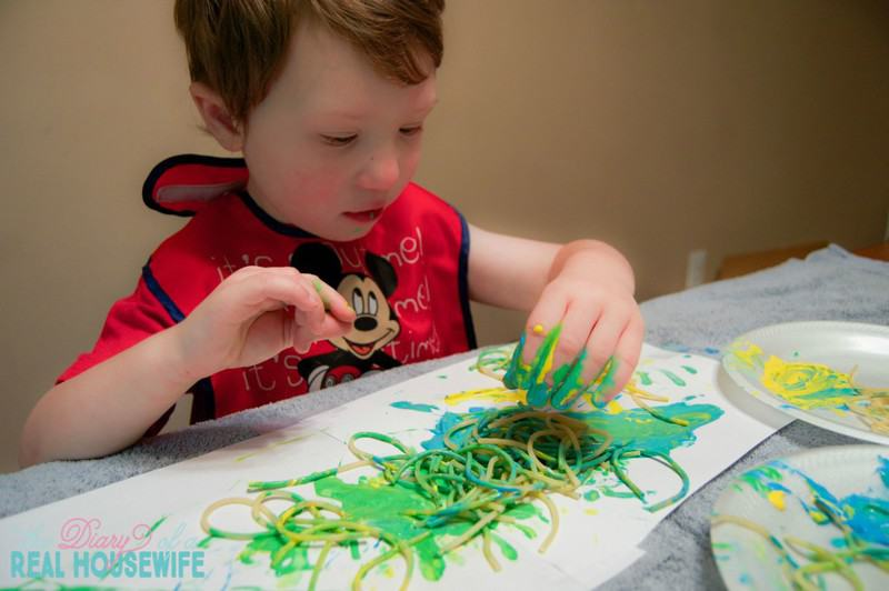 Spaghetti Painting! What a fun idea