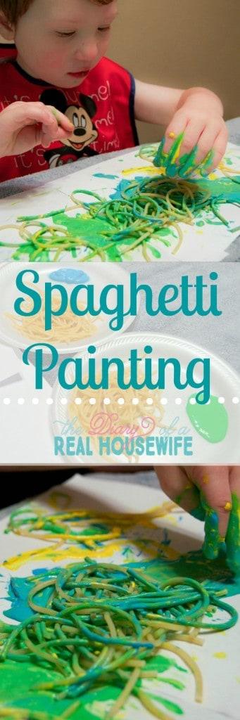 Spaghetti painting! Pin it!