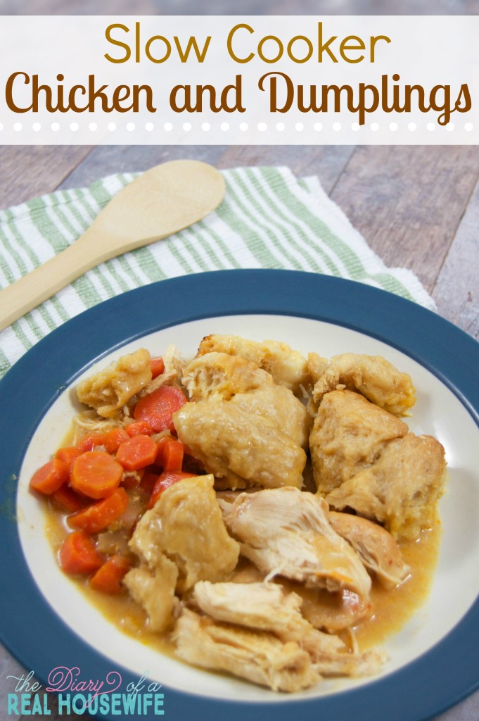 Cooking these Chicken and Dumplings in the slow cooker made our ...
