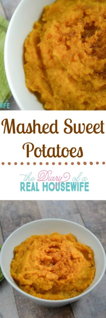 mashed sweet potatoes. So yummy!