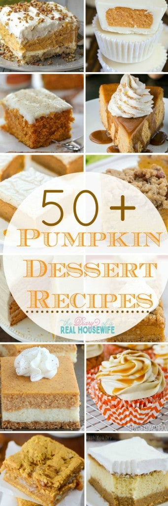 Awesome pumpkin dessert recipes. You are going to want to try EVERY SINGLE ONE! I know I do