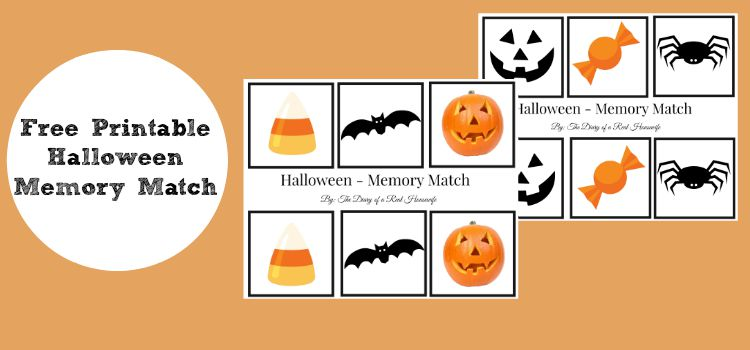Free Halloween Memory Match Printable