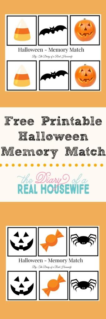 Free Halloween Memory Match Printable