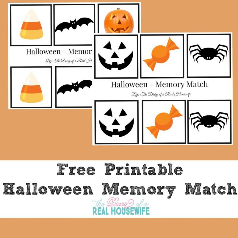 Free printable memory match!