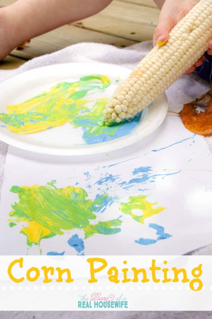 Fun fall activity for your kids! Corn painting.