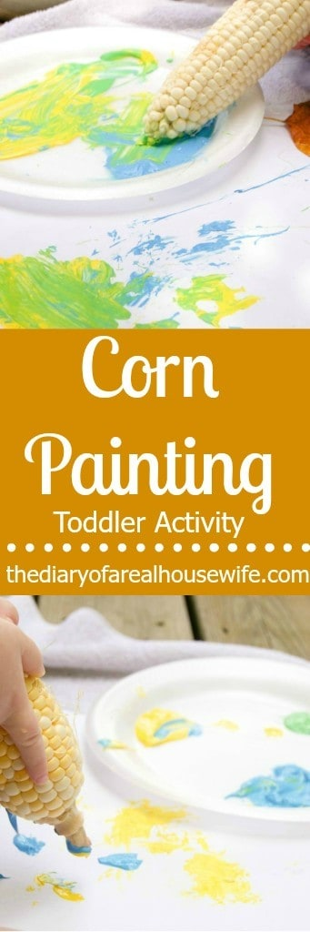 Great sensory activity for kids. Corn painting