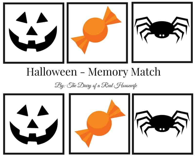 print and play a not so scary halloween memory match