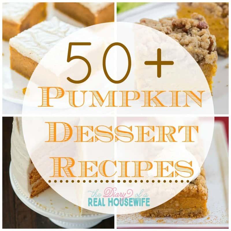 over 50 awesome pumplin dessert recipes.