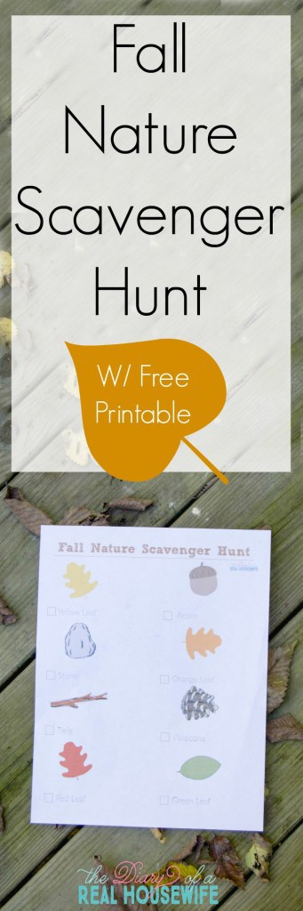 A fun fall nature scavenger hunt for your toddler.