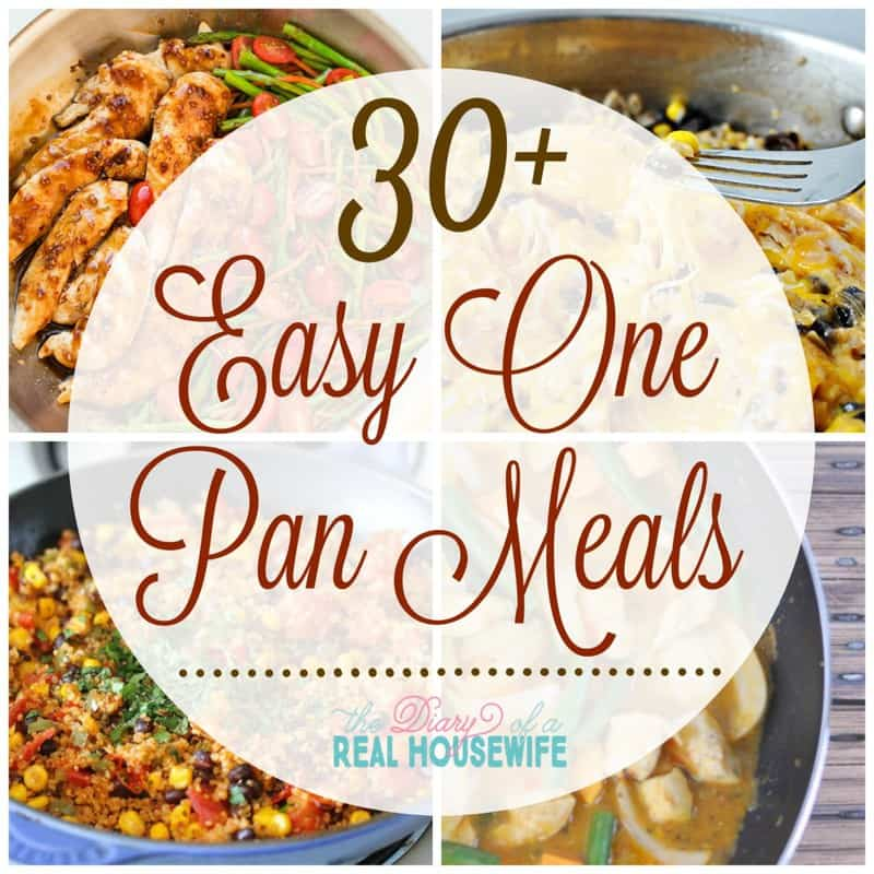 Easy one pan meal ideas!