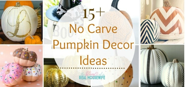 No Carve Pumpkins Ideas