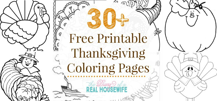 Thanksgiving Coloring Pages - The Diary of a Real Housewife