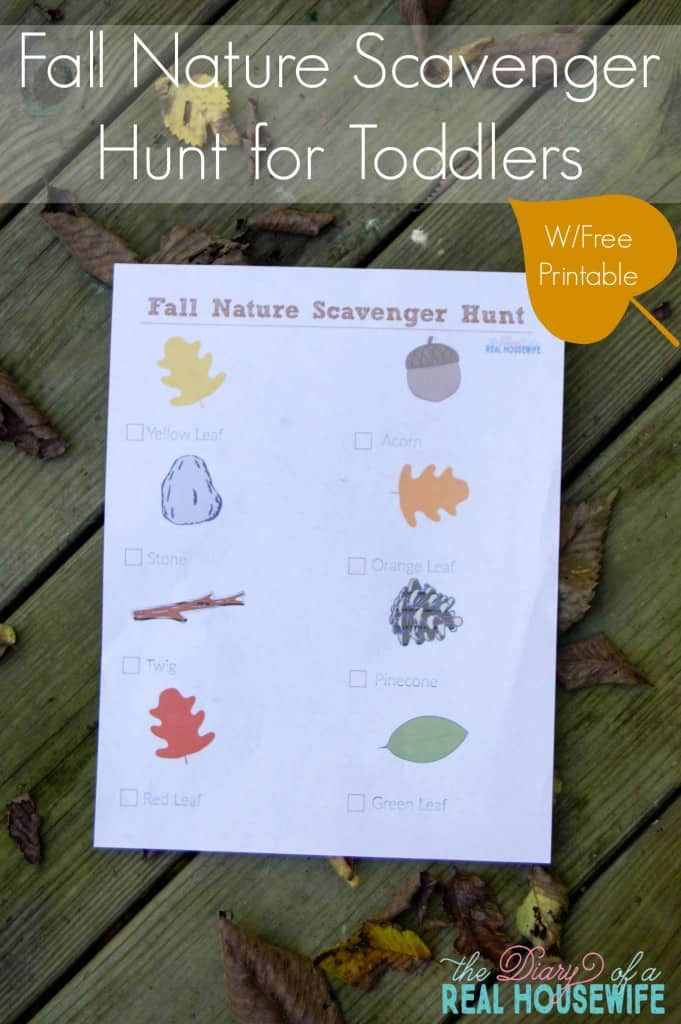 Fun fall nature scavenger hunt with FREE printable