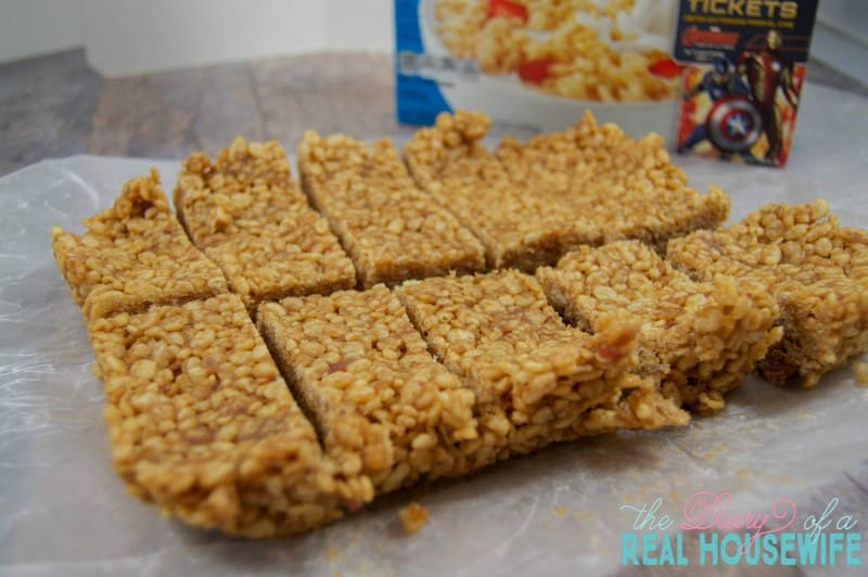 Peanut Butter and Jelly Cereal Bars