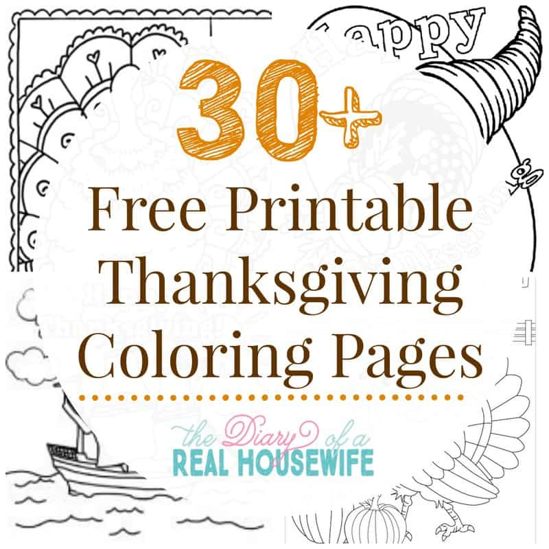 November coloring pages printable