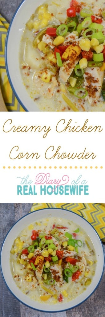 Yummy Creamy Chicken Corn Chowder! This was awesome and my entire family loved it.