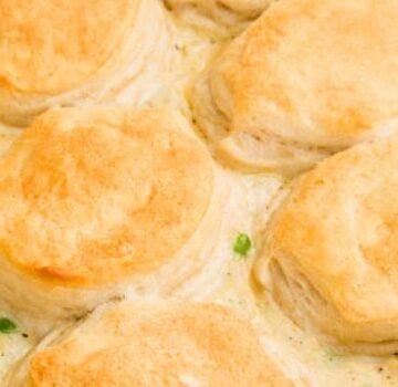 Biscuit Chicken Pot Pie Casserole