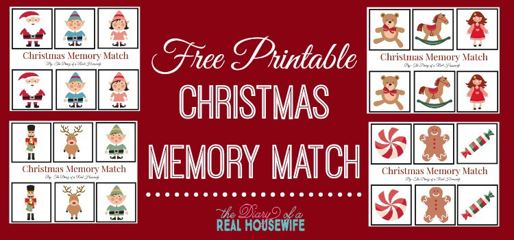 Free Printable Christmas Memory Match
