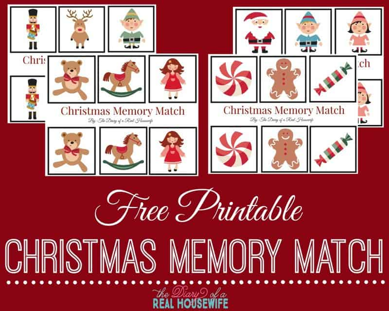 Free Christmas Memory Match Printable