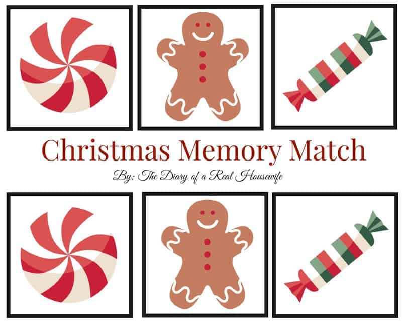 Free Printable - Christmas Memory Match Game