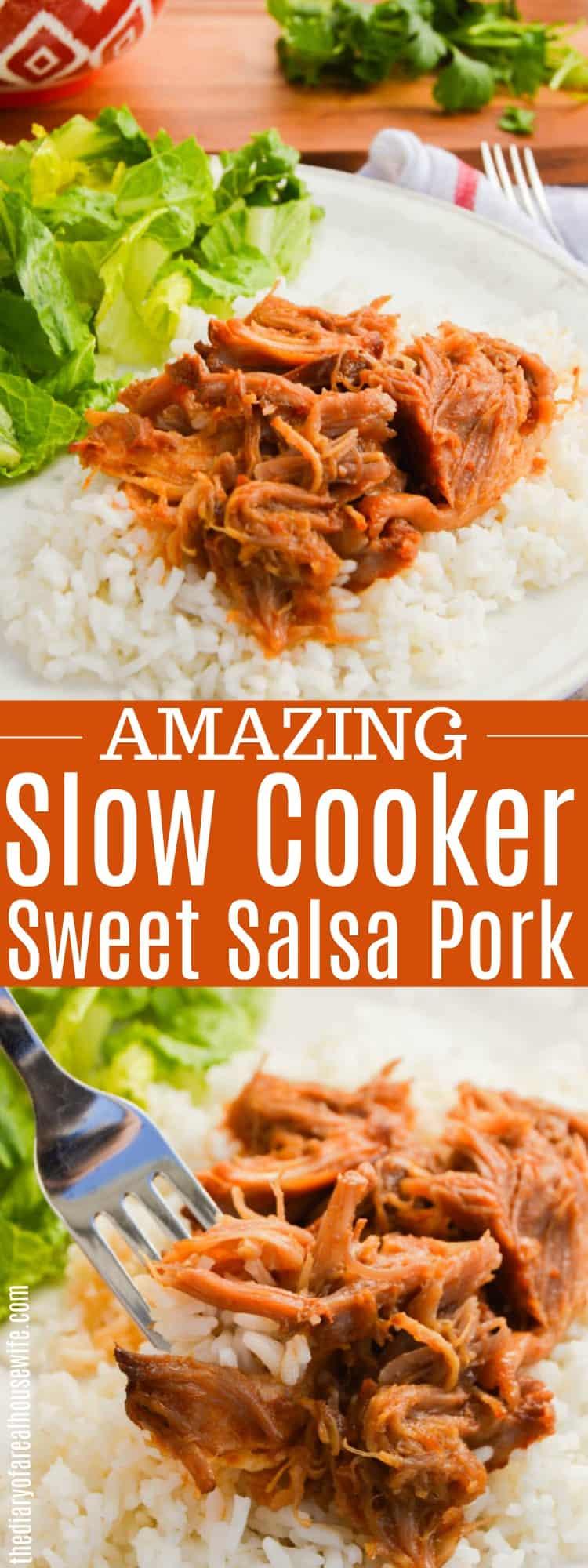 Slow Cooker Sweet Salsa Pork!
