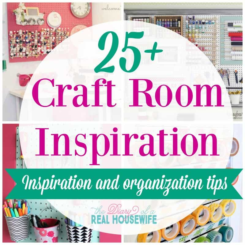 Beautiful craft rooms! Craft Room Inspiration and organizing tips!
