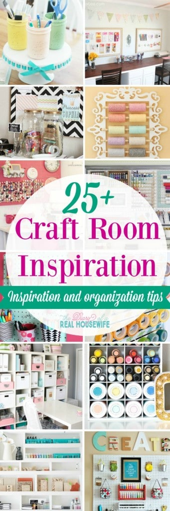 Craft Room Inspiration. Beautiful rooms to inspire and great organization tips.