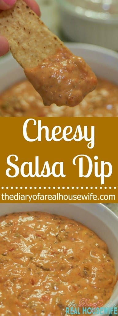 Cheesy Salsa Dip. My favorite dip! Make this all the time.