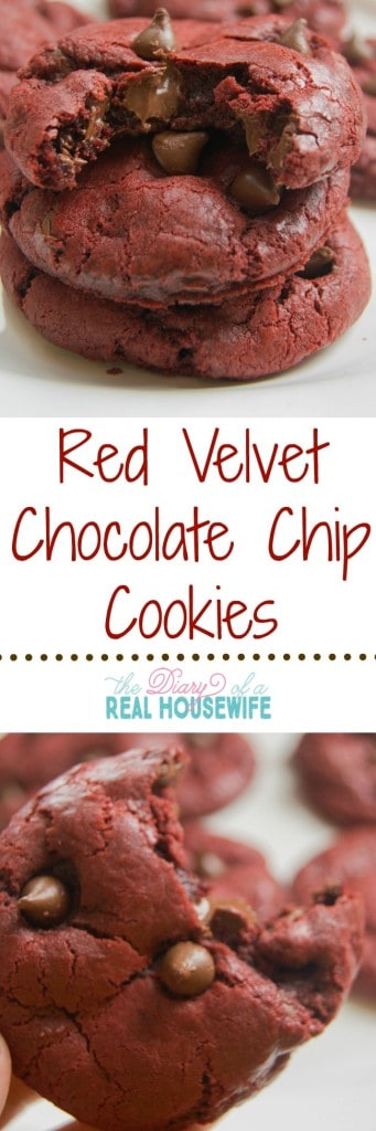 Red Velvet Chocolate Chip Cookie. The BEST cookie ever.
