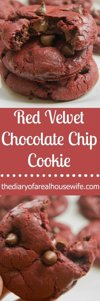 Red Velvet Chocolate Chip Cookie. These are awesome. Best cookie EVER!!