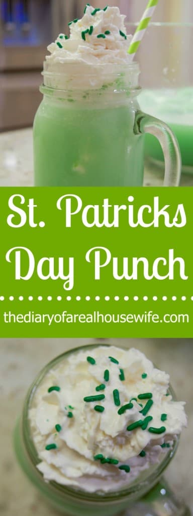 St. Patricks Day Punch! My kids loved having this special treat this year.