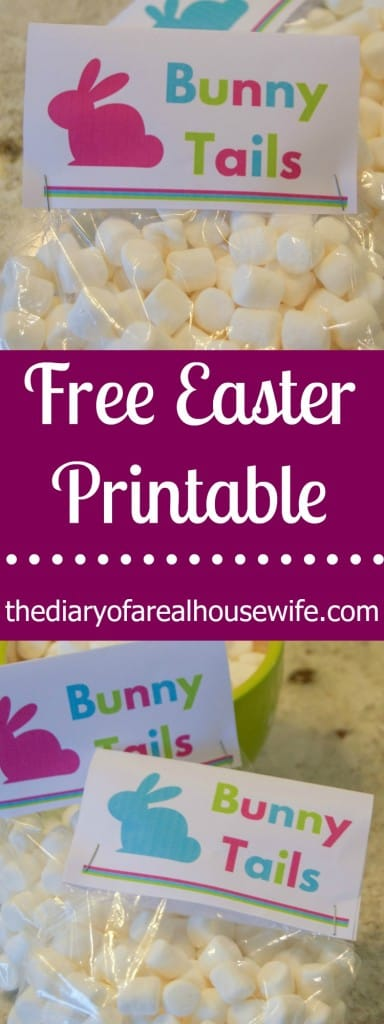 FREE Easter Printable. Bunny Tails.