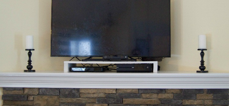 DIY Table Top TV Shelf