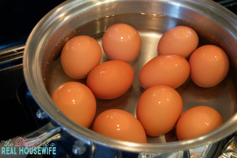 Getting the eggs ready. The Best Way to Boil an Egg copy