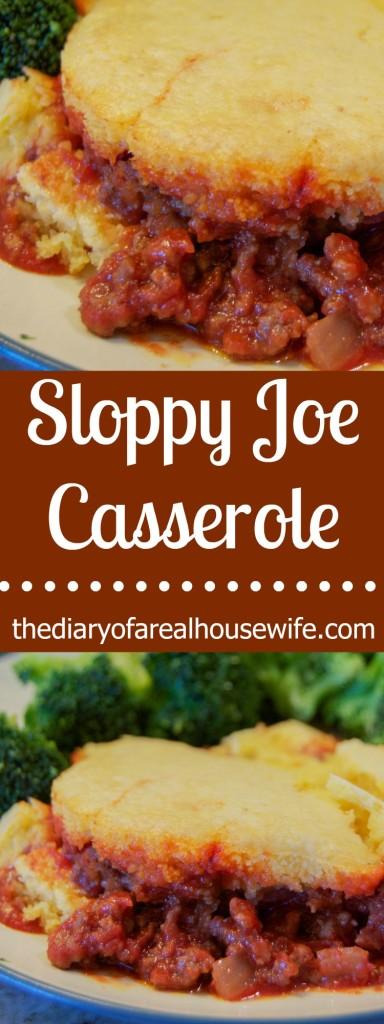 Sloppy Joe Casserole. The perfect Family Dinner Idea.