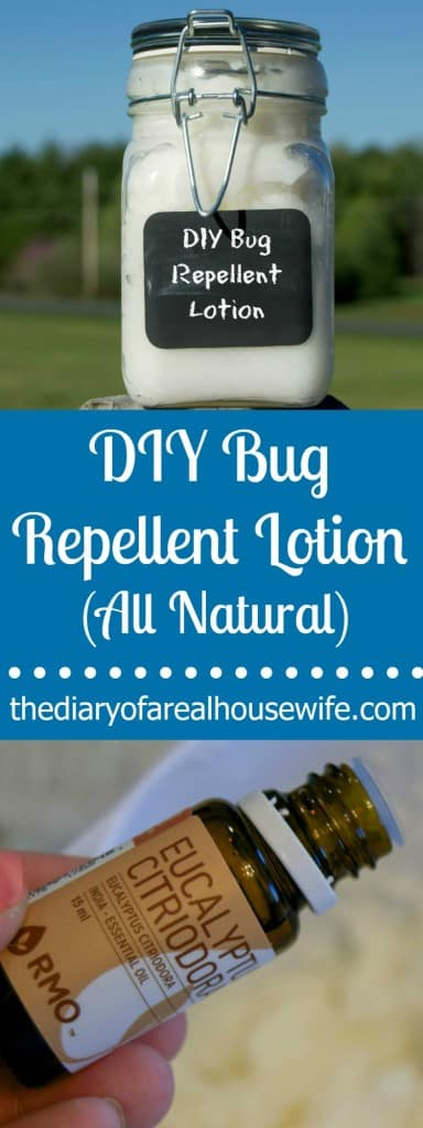 All Natural DIY Bug Repellent Lotion