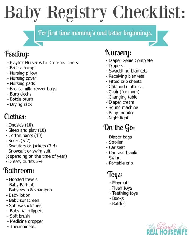 Baby Registry Checklist: for a Better Beginning FREE PRINTABLE ...