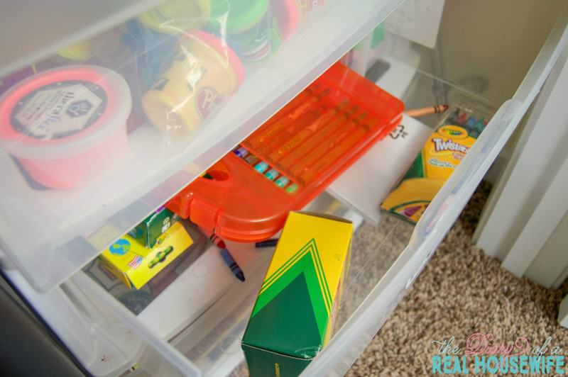Crayons in the Homeschool Closet Organizations