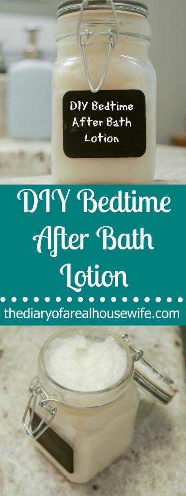 DIY Bedtime After Bath Lotion