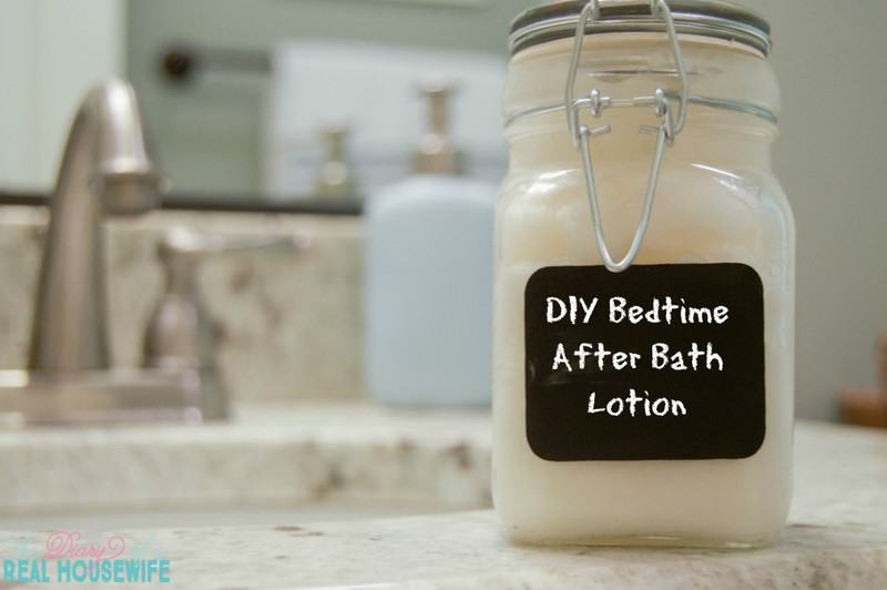 DIY Bedtime After Bath Lotion easy to make