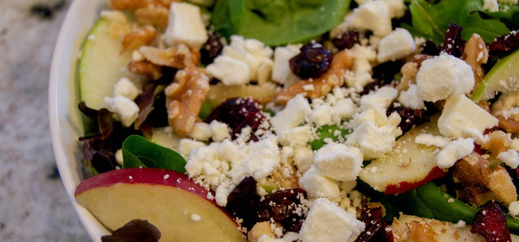 Apple Cranberry Walnut Salad and Homemade Apple Dressing
