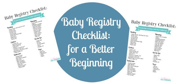 Baby Registry Checklist: for a Better Beginning