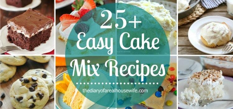 25+ Easy Cake Mix Recipes