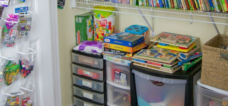 Homeschool Closet Organizations