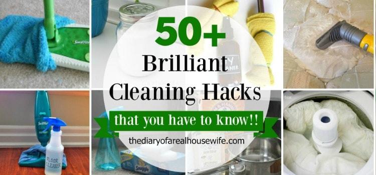 50 Plus Cleaning Hacks
