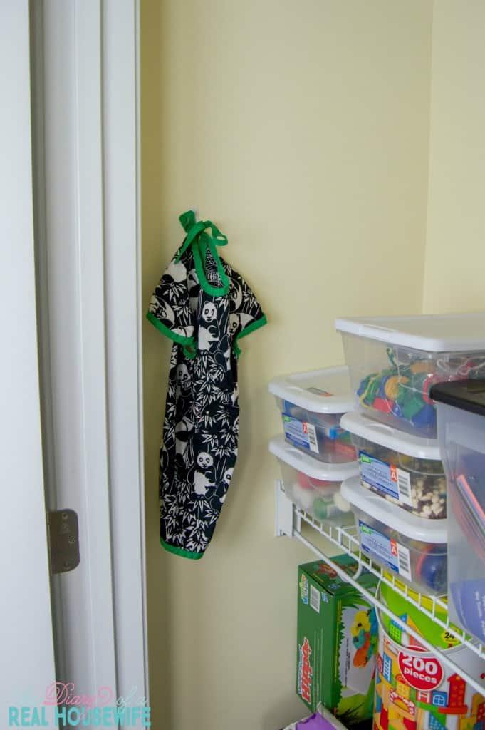 Haning in Homeschool Closet Organizations