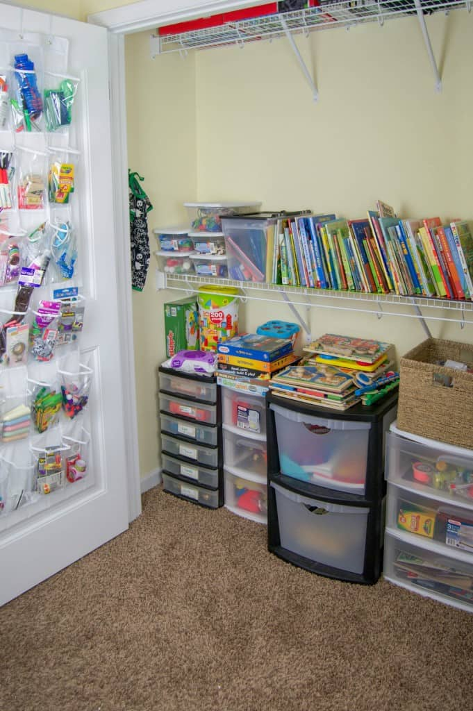 More Homeschool Closet Organizations
