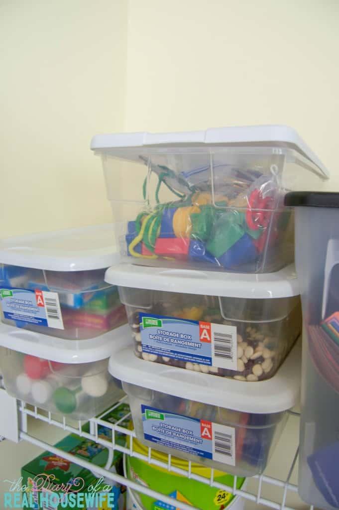 More things in my Homeschool Closet Organizations
